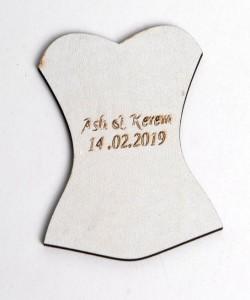 Lazer Kesim Ahşap Nikah Bibloları - 94509