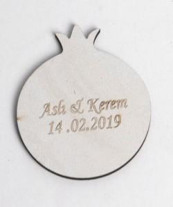 Lazer Kesim Ahşap Nikah Bibloları - 94512