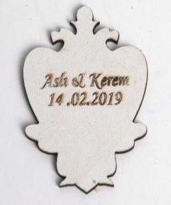 Lazer Kesim Ahşap Nikah Bibloları - 94518