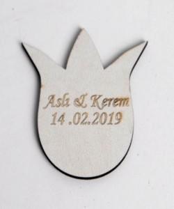 Lazer Kesim Ahşap Nikah Bibloları - 94522
