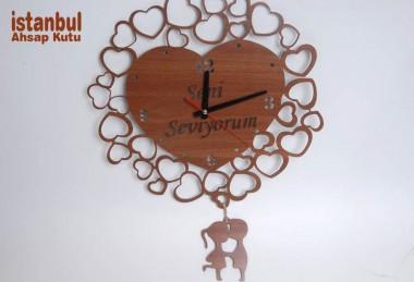 Sevgiliye Ahşap Saat - 89600